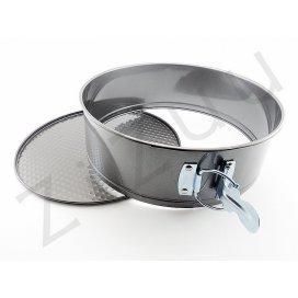 Tortiera tonda apribile a cerniera, in metallo antiaderente