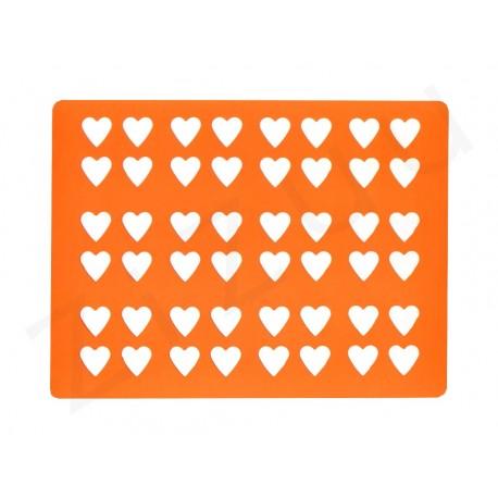 Chablon in silicone per decorazioni a cuore