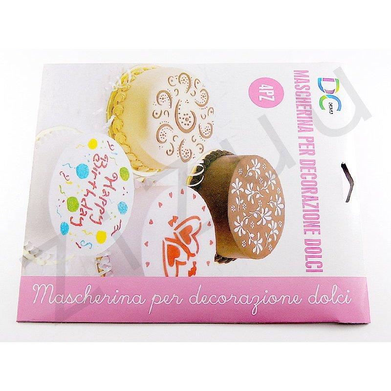stencil mascherina per decorazione dolci