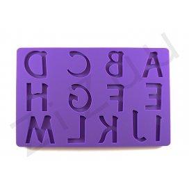 Stampi lettere A-M in silicone