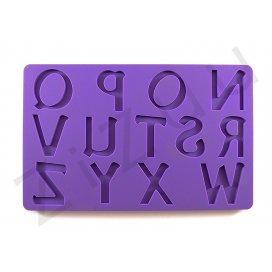 """Stampo molding in silicone """"Lettere Alfabeto N-Z"""" per cake design"""