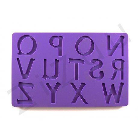 Stampi lettere N-Z in silicone