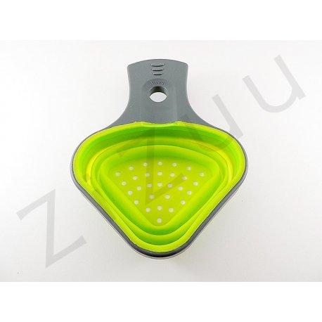 Scolapasta pieghevole in silicone monoporzione