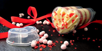 Push‐up cake pops a forma di cuore